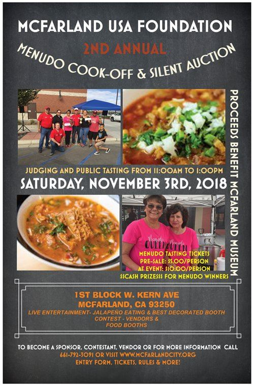 2nd Menudo Cook-Off Silent Auction